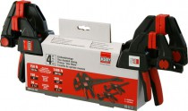 "Bessey EZM-EZL-SET 4pc Set Consisting Of 2 x 6"" EZM 15-6 & 2 x 12\"" EZL 30-8 Clamps £42.95"